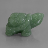 thumb image of 292.5ct Carved Turtle Green Aventurine (ID: 448469)