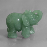 thumb image of 268.3ct Carved Elephant Green Aventurine (ID: 448473)