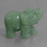 thumb image of 267.7ct Carved Elephant Green Aventurine (ID: 448474)