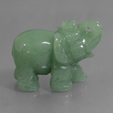 thumb image of 247.9ct Carved Elephant Green Aventurine (ID: 448475)