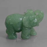 thumb image of 236.5ct Carved Elephant Green Aventurine (ID: 448476)