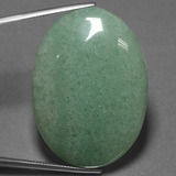 thumb image of 88.7ct Oval Cabochon Green Aventurine (ID: 456028)