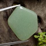 thumb image of 16.9ct Pentagon Cabochon Green Aventurine (ID: 470929)