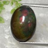 thumb image of 4.3ct Oval Cabochon Multicolor Black Opal (ID: 471816)