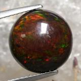 thumb image of 4.5ct Round Cabochon Multicolor Black Opal (ID: 471885)