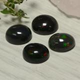 1.38 ct Oval Cabochon Multicolor Black Opal Gem 9.04 mm x 7 mm (Photo B)