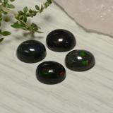 1.38 ct Oval Cabochon Multicolor Black Opal Gem 9.04 mm x 7 mm (Photo C)