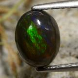 thumb image of 1.2ct Oval Cabochon Multicolor Black Opal (ID: 473633)