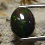 thumb image of 1.9ct Oval Cabochon Multicolor Black Opal (ID: 473685)