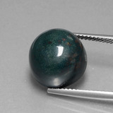 thumb image of 11.5ct Round Cabochon Spotted Green Bloodstone (ID: 408410)