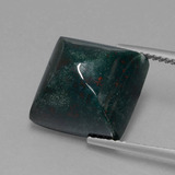 thumb image of 11ct Square Cabochon Spotted Green Bloodstone (ID: 408515)