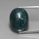 thumb image of 16.1ct Oval Cabochon Spotted Green Bloodstone (ID: 408642)