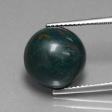 thumb image of 8.9ct Round Cabochon Spotted Green Bloodstone (ID: 408643)