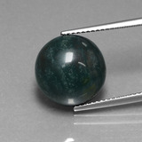 thumb image of 8.8ct Round Cabochon Spotted Green Bloodstone (ID: 408650)