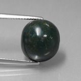 thumb image of 10.2ct Oval Cabochon Spotted Green Bloodstone (ID: 408818)