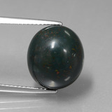 thumb image of 10.5ct Oval Cabochon Spotted Green Bloodstone (ID: 408819)