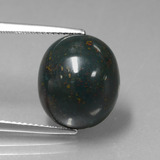 thumb image of 9.8ct Oval Cabochon Spotted Green Bloodstone (ID: 408820)