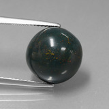 thumb image of 9.9ct Round Cabochon Spotted Green Bloodstone (ID: 408822)