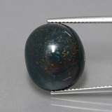 thumb image of 11.5ct Oval Cabochon Spotted Green Bloodstone (ID: 408854)