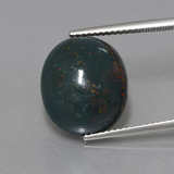 thumb image of 11.3ct Oval Cabochon Spotted Green Bloodstone (ID: 408856)
