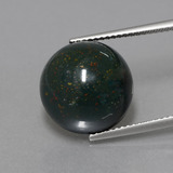 thumb image of 11.3ct Round Cabochon Spotted Green Bloodstone (ID: 408859)