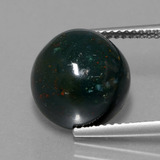 thumb image of 8.1ct Round Cabochon Spotted Green Bloodstone (ID: 408874)