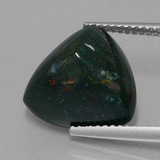 thumb image of 7.7ct Trillion Cabochon Spotted Green Bloodstone (ID: 408879)