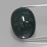 thumb image of 11.1ct Oval Cabochon Spotted Green Bloodstone (ID: 409110)