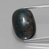 thumb image of 9ct Oval Cabochon Spotted Green Bloodstone (ID: 409112)
