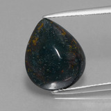 thumb image of 6.5ct Pear Cabochon Spotted Green Bloodstone (ID: 409117)