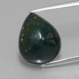 thumb image of 8ct Pear Cabochon Spotted Green Bloodstone (ID: 409118)