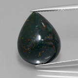 thumb image of 8.6ct Pear Cabochon Spotted Green Bloodstone (ID: 409119)