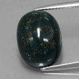 thumb image of 9.1ct Oval Cabochon Spotted Green Bloodstone (ID: 409269)