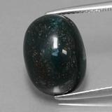 thumb image of 8.2ct Oval Cabochon Spotted Green Bloodstone (ID: 409270)