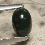 thumb image of 0.4ct Oval Cabochon Green Bloodstone (ID: 477081)