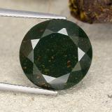 thumb image of 14.8ct Round Facet Spotted Green Bloodstone (ID: 482770)