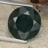 thumb image of 3.6ct Round Facet Spotted Green Bloodstone (ID: 482868)