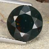 thumb image of 4.6ct Round Facet Spotted Green Bloodstone (ID: 482869)