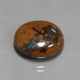 thumb image of 10.9ct Oval Cabochon Multicolor Boulder Opal (ID: 300127)