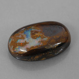 thumb image of 7.8ct Oval Cabochon Multicolor Boulder Opal (ID: 310763)
