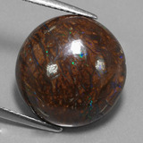 thumb image of 11.9ct Round Cabochon Multicolor Boulder Opal (ID: 322730)