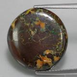 thumb image of 15.8ct Round Cabochon Multicolor Boulder Opal (ID: 336576)