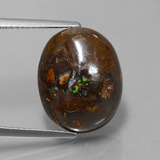 thumb image of 11.3ct Oval Cabochon Multicolor Boulder Opal (ID: 365248)