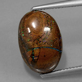 thumb image of 9.1ct Oval Cabochon Multicolor Boulder Opal (ID: 420628)