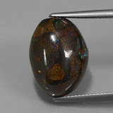 thumb image of 15.5ct Fancy Cabochon Multicolor Boulder Opal (ID: 420674)