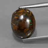thumb image of 7.3ct Oval Cabochon Multicolor Boulder Opal (ID: 420731)