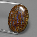 thumb image of 13.1ct Oval Cabochon Multicolor Boulder Opal (ID: 449522)