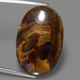 thumb image of 15.9ct Oval Cabochon Multicolor Boulder Opal (ID: 449525)