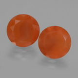 thumb image of 8.5ct Round Facet Orange Carnelian (ID: 404547)