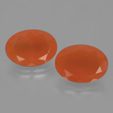 thumb image of 10.4ct Oval Facet Orange Carnelian (ID: 404777)